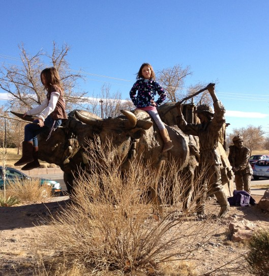 Lucy and Frannie at the Albuquerque Museum.