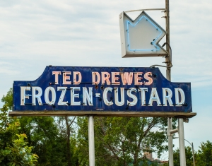 Frozen custard launches our Route 66 adventure in St. Louis