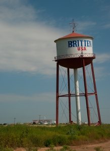 The iconic leaning water tower near Amarillo